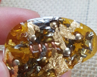 Natural Orgonite - Organic - *(less than .1% synthetic food grade sealer over early amber)
