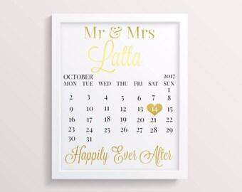Mr and Mrs print - Anniversary gift - wedding gift