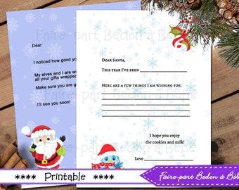 Letter from santa etsy printed santa set letter from santa claus official santas letter from the north pole spiritdancerdesigns Image collections