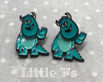 Sully - Monsters Inc - moving body earrings