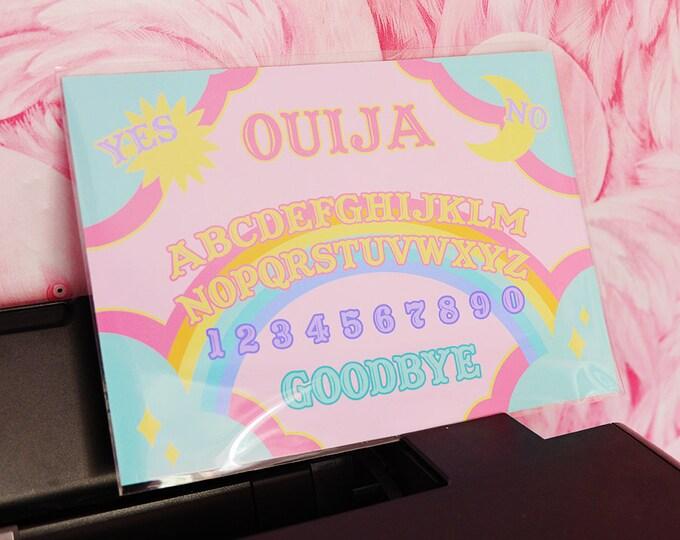 Rainbow Ouija Board Illustration A3 Archival Fine Art Print