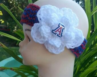 Wildcats Baby, Free Shipping, Arizona, baby Headband, UofA, Arizona baby, Arizona college, college, Newborn, Newborn Baby girl, Baby beanie