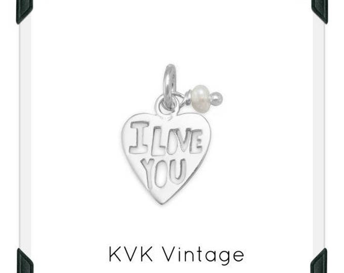 """Cut Out """"I LOVE YOU"""" Heart Charm Necklace"""