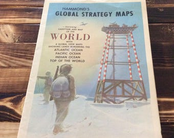 Hammonds Global Strategy Maps/ Gazetteer and Map of the World/ 4 Global View Maps