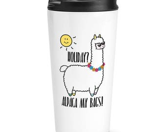 Holiday Alpaca My Bags Travel Mug Cup