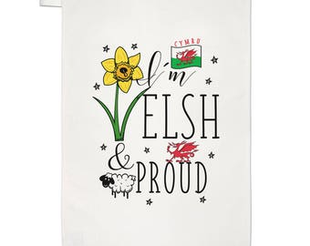 I'm Welsh And Proud Tea Towel Dish Cloth