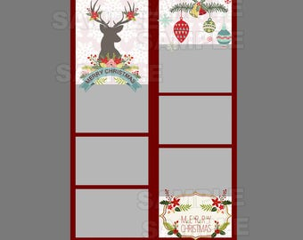 50% off,photo booth template,instant download,christmas photo,photo strips,holiday season photo strip,fun playful party idea,