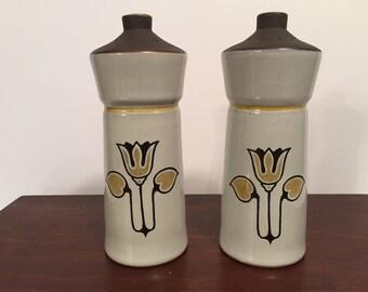 SALE Denby Vintage Salt& Pepper Shakers