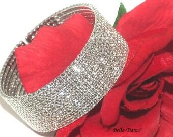 Swarovski crystal cuff bracelet, wedding crystal cuff bracelet, Swarovski crystal bracelet, wedding crystal bracelet, bridal cuff bracelet