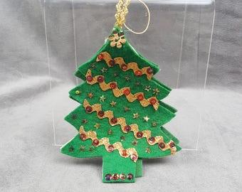 Sequin Felt Christmas Tree Ornament