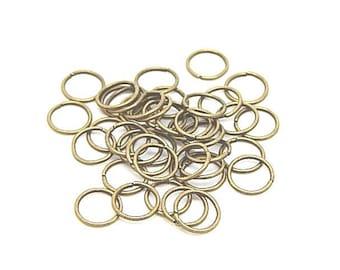 100 10mm jump rings bronze