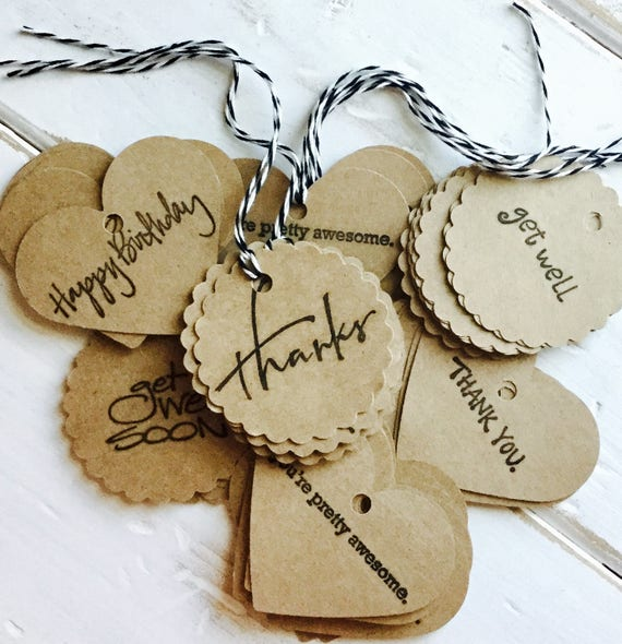 ADD A TAG >>>  Make Your Gift SUPER Special with our Cute Little Tie-On Tags | Stock Up to Keep on Hand for Every Occasion!