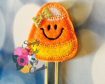 Candy Corn Felt Planner Clip/PaperClip