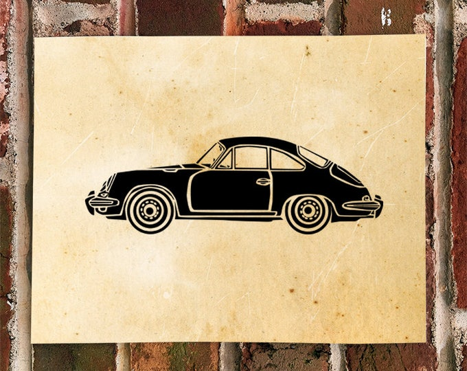 KillerBeeMoto: Vintage Sports Car Print Limited Print 1 of 100