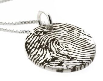 Fingerprint Pendant Sterling Silver