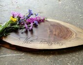 Personalized Cheese Board or Cutting Board - Walnut Cheese Board - Shower or Engagement Gift - Handmade Cutting Board