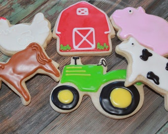 Barnyard Farm Birthday Vanilla Sugar Cookies
