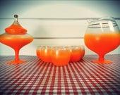 Vintage orange Blendo Cocktail Set!
