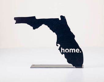 Florida Home State Steel Sign - Metal State Wall Decor