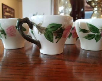 Franciscan Desert Rose Diamante Demitasse Cup and Saucer Set Reduced was 13.95