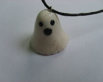 POLYMER CLAY GHOST PENDANT