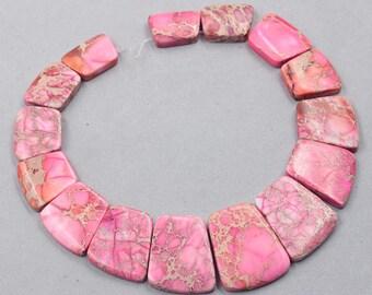 Sea Sediment Jasper Slice Beads Pink YHA-320-1