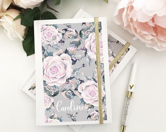 Floral Journal Floral Notebook Floral Gifts for Her Floral Bridesmaid Gifts Travel Gifts Travel Journal Personalized Journal (EB3191RSG)