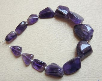 """1. Strand 10"""" Amethyst Smooth Tumble 25X15 To 13X10 MM Approx Fine Quality 100% Natural Wholesale Price New Arrival"""