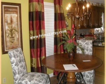 """Made-To-Order...84"""" to 96"""" Long......2 UNLINED 1 Width Curtains (1 Pair)......Using YOUR Fabric"""