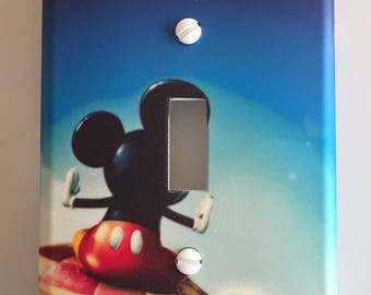 Personalized  Mickey Mouse nursery Light switch cover boys room home decor  // SAME DAY SHIPPING**