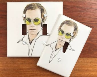 Elton John Light Switch Plate Cover // SAME DAY SHIPPING**