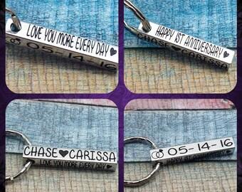 Anniversary Gift, 10 Year anniversary, Gift For Husband, 1st Wedding anniversary, gift for men, 5 year wedding anniversary, custom key chain