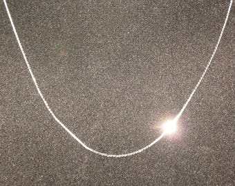 Monet Fine Serpentine Chain Necklace Silver Tone 27 inch