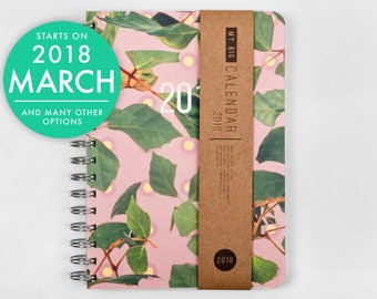 2018 2019 Planner high quality paper! Colorful leaves A5 Diary Weekly daily Calendar Calendario Kalender Agenda Journal Open-dated available