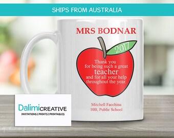 Teachers Mug - Personalised Mug - Gift for Teacher - Teachers Mug - Teacher Appreciation Gift - End of Year Teachers Gift - A Great Teacher