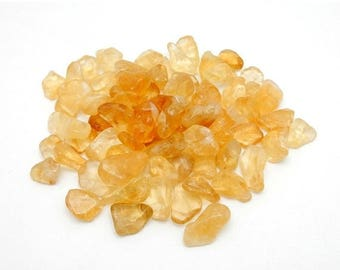 10% off July 4th Petite Tumbled Citrine Chakra Stone Jewelry Supply Reiki Feng Shui 10 pcs  (RK60B8)