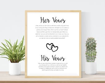 Wedding vows sign etsy junglespirit Image collections