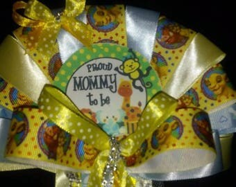 it's a jungle safari Mommy To Be & matching Daddy To Be Baby shower set