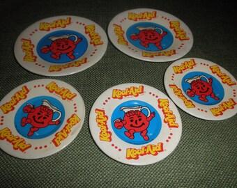 Tin Plates Kool Aid Toy 1983