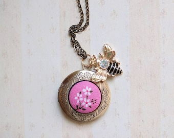 Victoria  Locket with Bee Charm