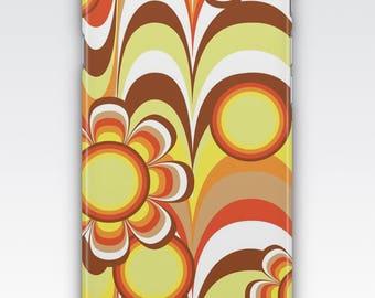 Case for iPhone 8, iPhone 6s,  iPhone 6 Plus,  iPhone 5s,  iPhone SE,  iPhone 5c, iPhone 7,  Retro Orange & Brown 1970's Pattern