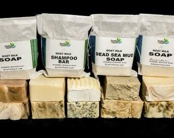 Natural Goat Milk Soap Bar  - No Sulfates No Chemicals No Parabens