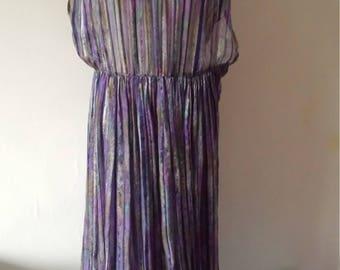 Stunning Vintage 70s boho maxi dress size 12