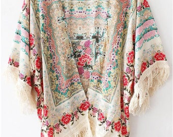 Cardigan, Kimono Cover Up, Light Summer Jacket, Clothing Boho Chic Cardigan, Swimsuit Cover up, Beach Cover Up, Unique Clothing