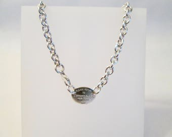 Sterling Silver Return to Tiffany & Co. Necklace