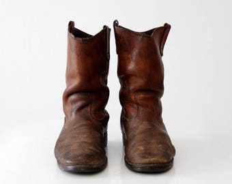 vintage Red Wing work boots, leather work boots