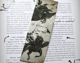 Black Raven winged Unicorn bookmark