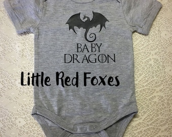 Game of Thrones onesie. Khaleesi onesie - baby onesie - Dragon oneise
