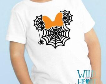 Spider web Minnie Shirt, Disney Halloween Shirt, Spiderweb Minnie Halloween Shirt, Halloween Disney Shirt, Halloween, Halloween Shirt, Scary