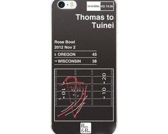 Oregon Football iPhone Case: Thomas to Tuinei (2012)